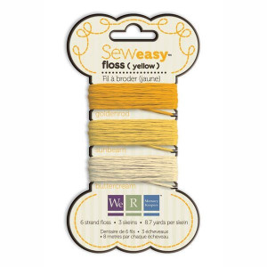 Nici do szycia 24 m We R - Sew Easy Floss - Yellow