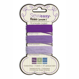 Nici do szycia 24 m We R - Sew Easy Floss - Purple