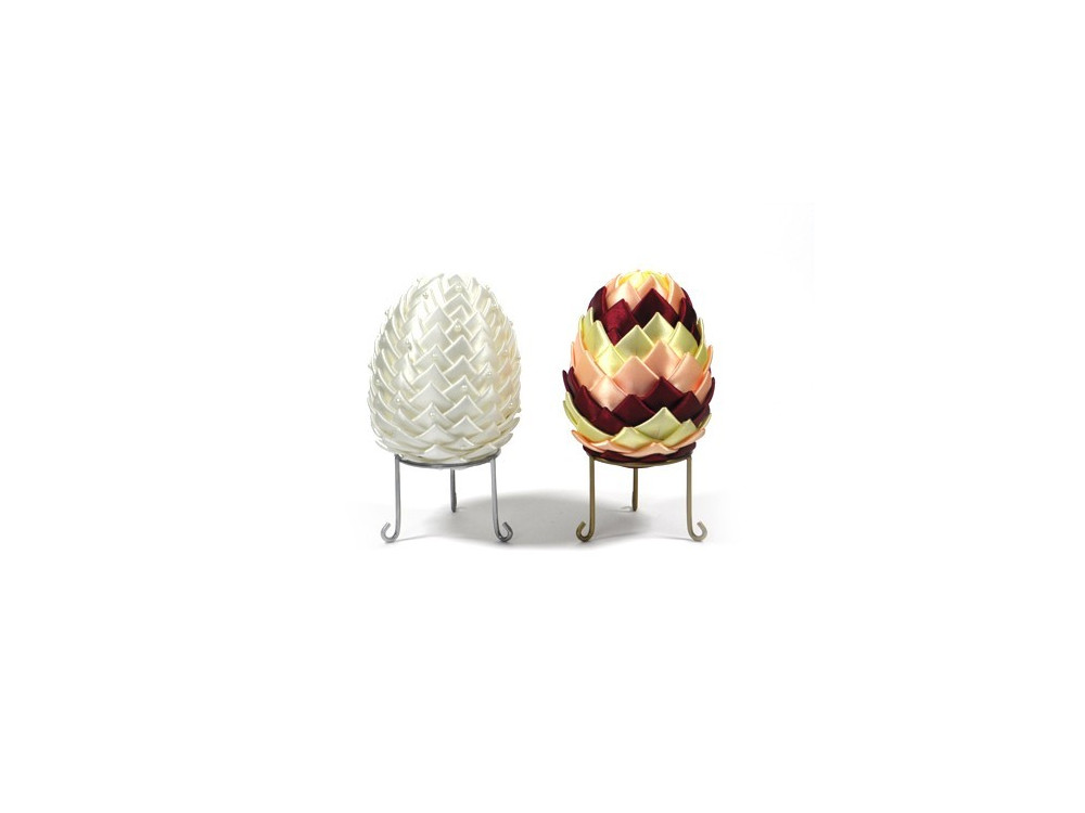 Metal easter egg stand - silver, 55 mm x 62 mm