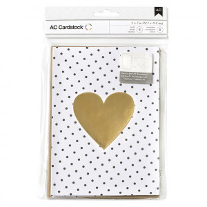 VALENTINE CARDS W/ENVELOPES 8/PKG AC