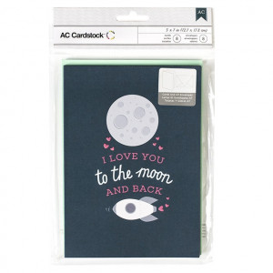 VALENTINE CARDS W/ENVELOPES - Moon & Back 8/PKG AC
