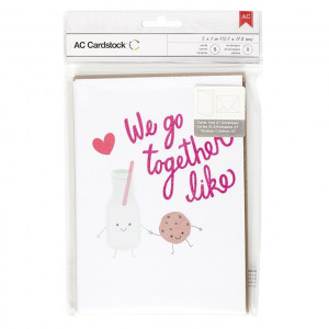 VALENTINE CARDS W/ENVELOPES - We Go Together 8/PKG AC