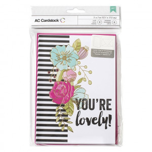 VALENTINE CARDS W/ENVELOPES - You're Lovely 8/PKG AC