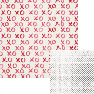 "CRUSH DOUBLE-SIDED CARDSTOCK 12""X12"" - XOXO"