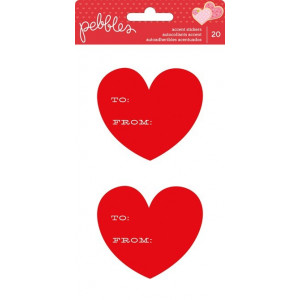 Naklejki - Pebbles - Be Mine - Cardstock Stickers - From/To 20szt. AC