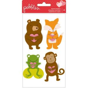 Naklejki zwierzęta - Pebbles Be Mine - Layered Stickers - 4szt. AC