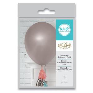 Balony srebrne duże 3 szt. We R
