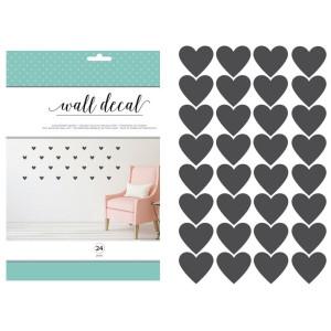 Winylowa naklejka na ścianę - Chalkboard Hearts 24szt. AC