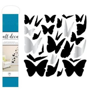 Naklejka na ścianę - Wall Decal - Butterflies - 25szt. AC