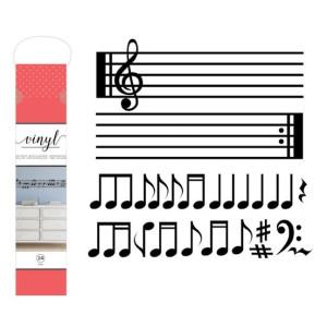 Naklejka na ścianę - Wall Decal - Music Notes - 24 szt. AC