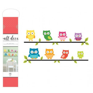 Naklejka na ścianę - Wall Decal - Owls - 6 szt. AC