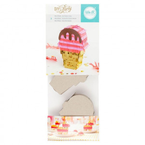 Mini piniata - Ice Cream Cone - 3 szt. 8,89 x 12,07 cm We R