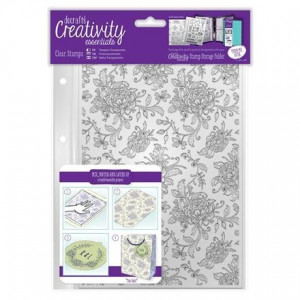 STEMPEL AKRYLOWY A5 - CREATIVITY ESSENTIALS - FLORAL BACKGROUND