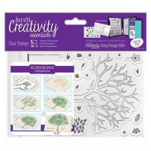 ZESTAW STEMPLI AKRYLOWYCH A6 - CREATIVITY ESSENTIALS - BUILD A TREE, 30 SZT.