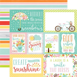 Papier Echo Park - Spring - Journaling Cards