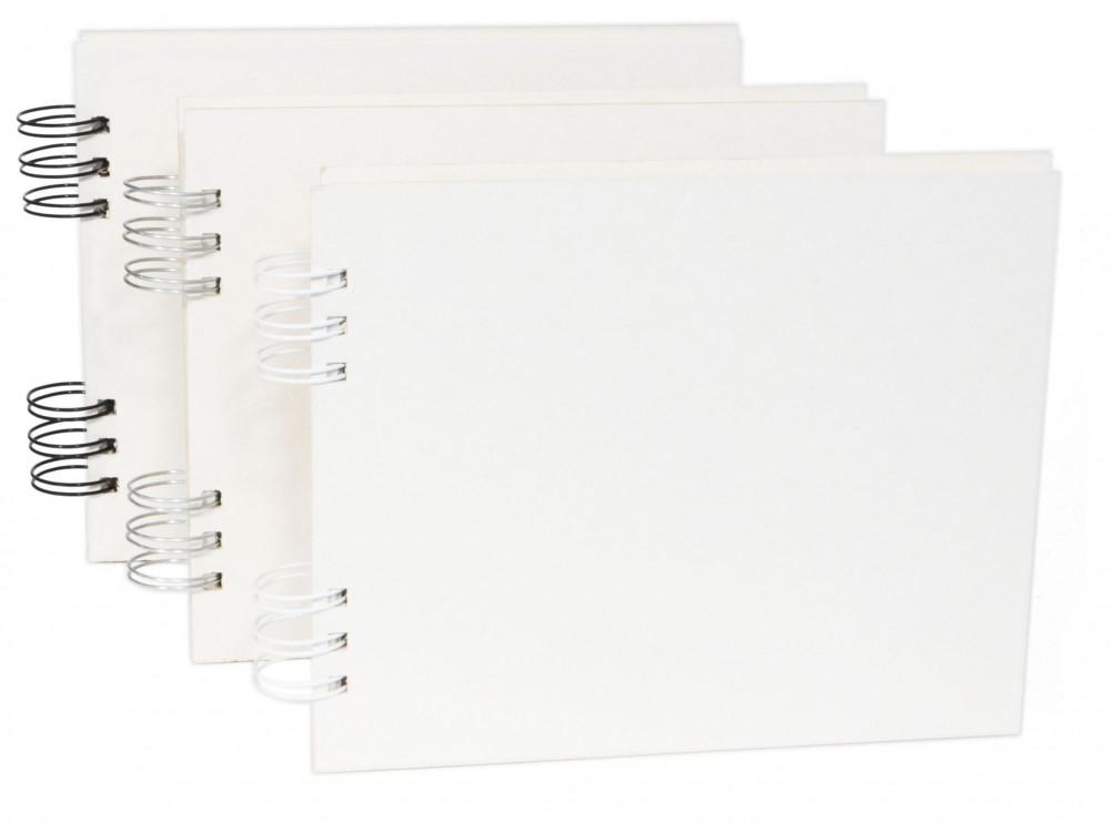 Baza do albumu 16 x 20 cm - Simply Crafting - biały grzbiet, 12 kart
