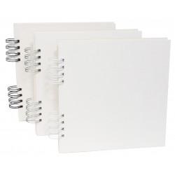 Baza do albumu 20 x 20 cm - Simply Crafting - biały grzbiet, 12 kart
