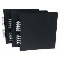 Plain Album 25x25 black 22 sheets