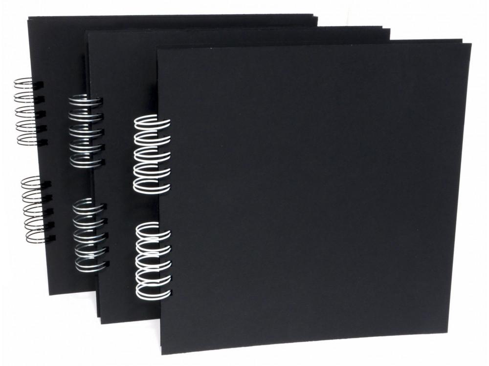 Baza do albumu 25x25 czarna 22 karty