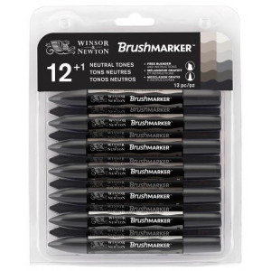 Promarker W&N Brushmarker 12 Set Greys