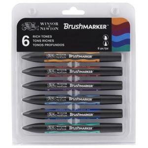 Brushmarker 6 Set Rich Tones W&N