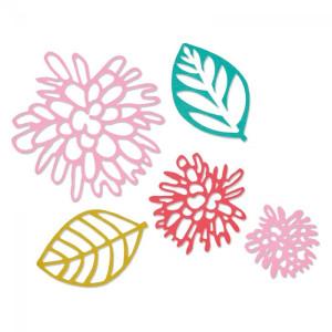 Sizzix Thinlits Die Set 5PK - Intricate Garden Flowers