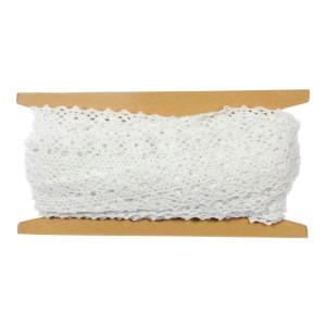 Koronka bawełniana 25 mm x 4,3 m biała