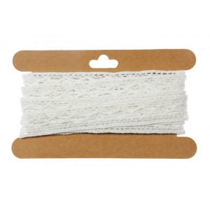 Koronka bawełniana 18 mm x 4,3 m biała