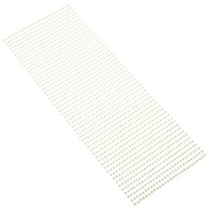 Perły samoprzylepne 3 mm, 1404 szt. ecru