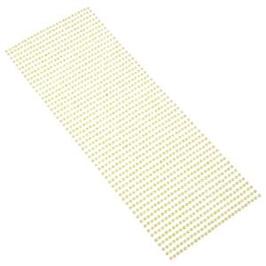 Perły samoprzylepne 3 mm, 1404 szt. cytrynowe