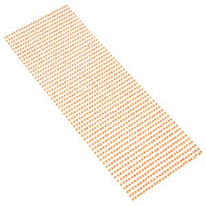 Perły samoprzylepne 3 mm, 1404 szt. pomarańczowe