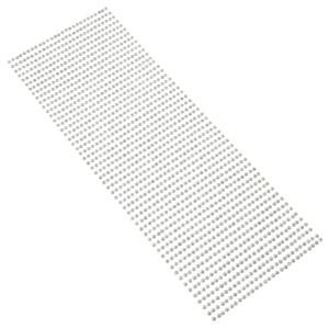 Perły samoprzylepne 3 mm, 1404 szt. srebrne
