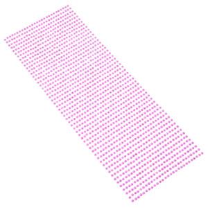 Perły samoprzylepne 3 mm, 1404 szt. amarantowe