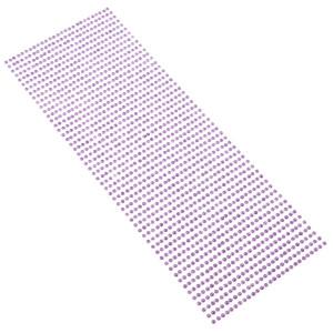 Perły samoprzylepne 3 mm, 1404 szt. fioletowe