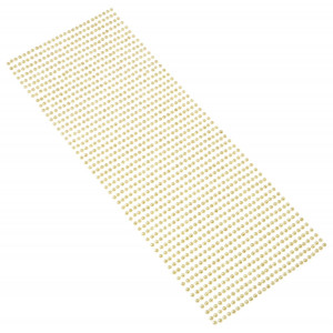 Perły samoprzylepne 3 mm, 1404 szt. beżowe