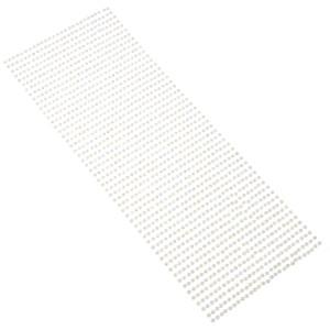Perły samoprzylepne 3 mm, 1404 szt. białe opalizujące