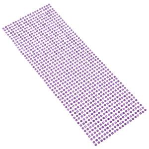 Perły samoprzylepne 4 mm, 1000 szt. fioletowe