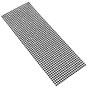 Perły samoprzylepne 4 mm, 1000 szt. czarne
