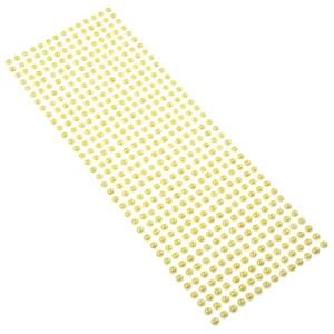 Perły samoprzylepne 6 mm, 504 szt. ecru