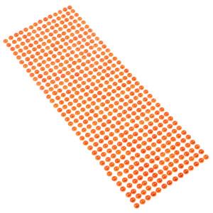 Perły samoprzylepne 6 mm, 504 szt. pomarańczowe