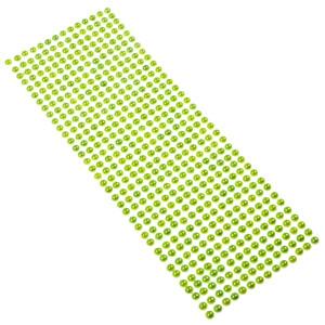 Perły samoprzylepne 6 mm, 504 szt. jasny zielony