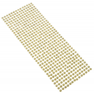 Perły samoprzylepne 6 mm, 504 szt. beżowe