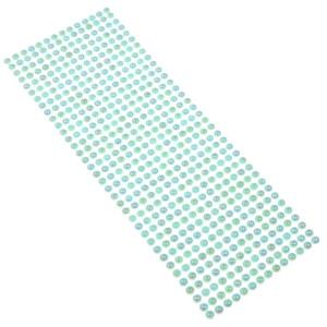 Perły samoprzylepne 6 mm, 504 szt. błękitne
