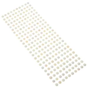 Perły samoprzylepne 8 mm, 240 szt. białe opalizujące