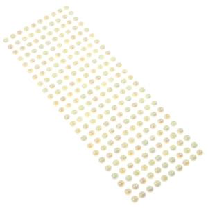 Perły samoprzylepne 8 mm, 240 szt. ecru opalizujące
