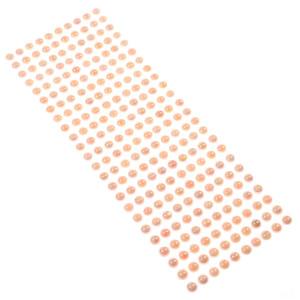 Perły samoprzylepne 8 mm, 240 szt. łososiowe