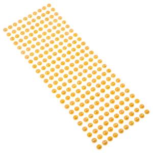 Perły samoprzylepne 8 mm, 240 szt. pomarańczowe opalizujące