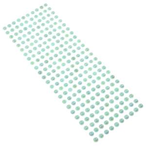 Perły samoprzylepne 8 mm, 240 szt. błękitne opalizujące
