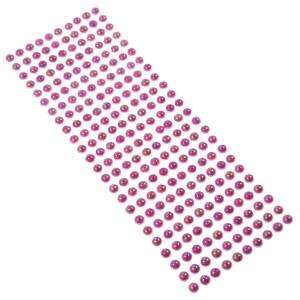 Perły samoprzylepne 8 mm, 240 szt. amarantowe opalizujące