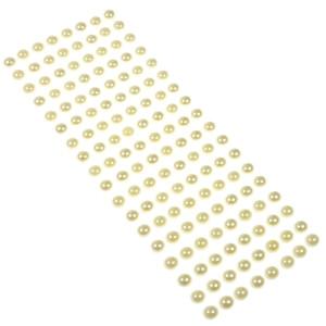 Perły samoprzylepne 10 mm, 144 szt. ecru
